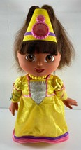 "2003 Mattel Dora the Explorer Magic Hair Fairytale Princess Doll Talks 14"" - $27.71"
