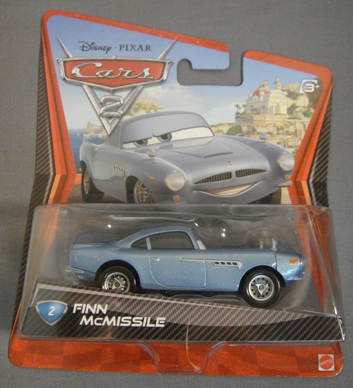 Finn Mcmissile Giocattolo Mattel Disney 1 55 Cars Auto: DISNEY PIXAR CARS 2 FINN McMISSILE #2 MATTEL 1:55 SCALE