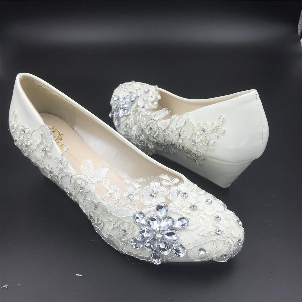 Women Wedding Wedges Shoes/Ladies Bridal Wedges Shoes,Wedding Low Heels Wedges image 4