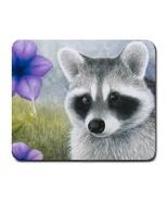 Mousepad mat pad from original art painting Raccoon 20 - $15.99