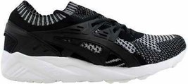 [H7S3N 9390] Men's Asics Gel Kayano Trainer Knit Silver/Black Size 9.5 - $70.00