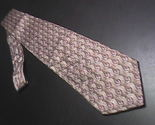 Tie ermenegildo zegna disegno esclusivo soft browns with rosy repeating leaves 01 thumb155 crop