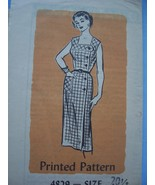 1960's Fitted Summer Dress w/Side Button Closure 20 1/2/41 - $7.99