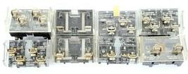 LOT OF 8 ALLEN BRADLEY CONTACT BLOCKS 800T-XA, 800T-XD1, 800T-XD4