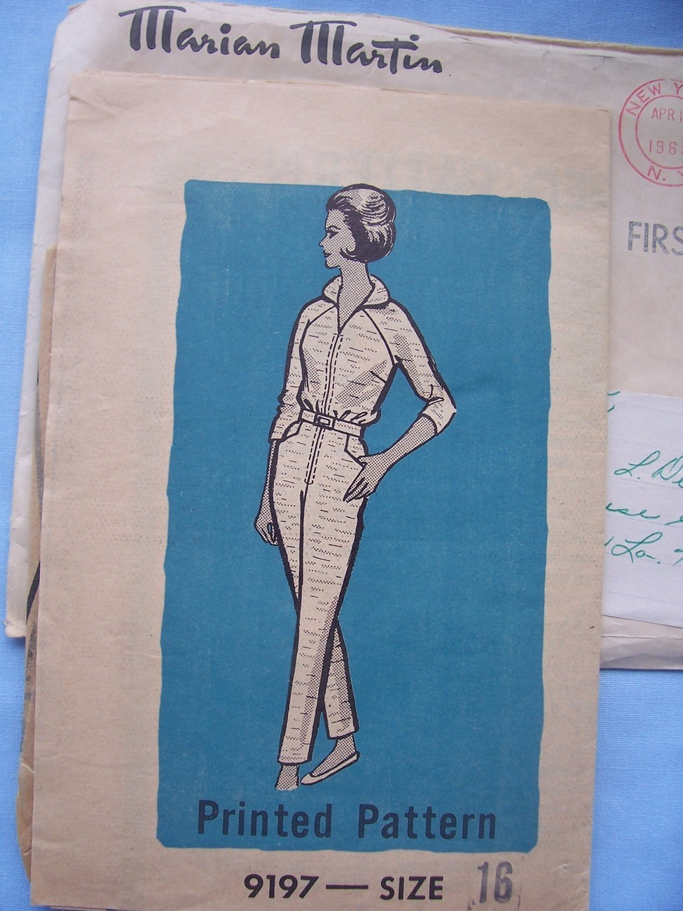 1960's Jumpsuit, Slim Legs, Reglan Sleeves 16/36 Other