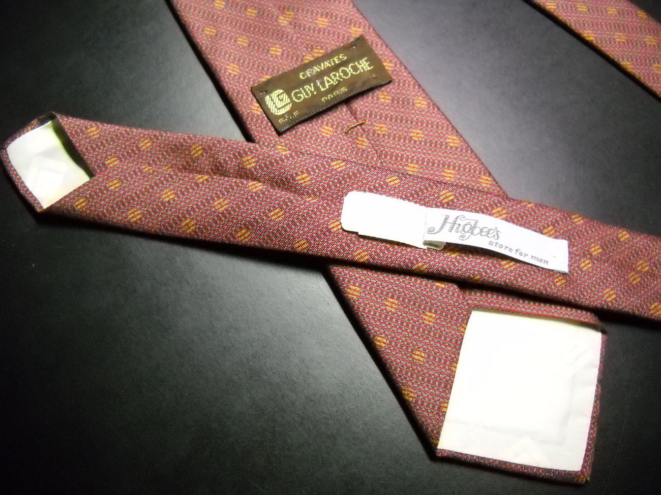 Guy Laroche Silk Dress Neck Tie Soft Browns 3 Inches at Widest Vintage