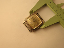 1967 Bulova 2 diamond dial 17 jewel white gold plate case watch runs for... - $179.00