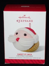 Hallmark Keepsake Ornament 2014 Sweet St. Nick Christmas Cupcake QX9106 NEW - $5.86