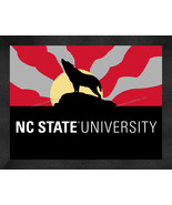 NC State Wolpack 13 x 16 Uscape with Retro Skyline Framed Print  - $39.95
