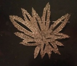 Vintage signed POLCINI Sparkling Paste Rhinestone 2 inch Brooch Pin - $24.75