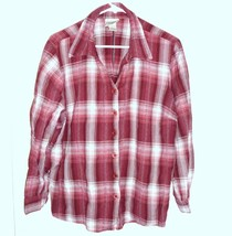 ESSENTIALS BY MAGGIE Shirt Plus Sz 18/20 Plaid Button Front Long Sleeve ... - $18.80