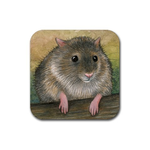 Rubber Coasters set of 4,  from art painting Hamster 24