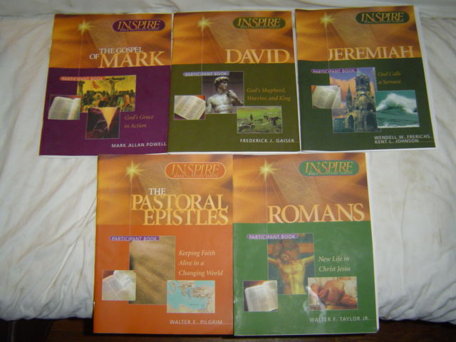 INSPIRE BIBLE STUDY SERIES LOT SET ROMANS JEREMIAH DAVID MARK PASTORAL EPISTLES