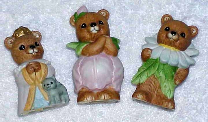 Home interiors homco 3 bear figurines 1426 8768