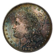 1880 S  MORGAN SILVER DOLLAR   SUPERB OLD TONING. 744 - $112.70