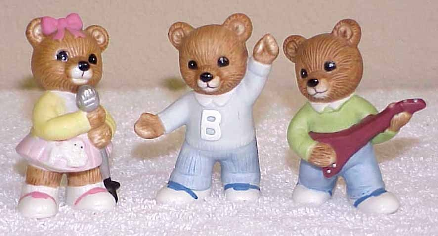 home interior bears home interiors homco bears teenagers 1421 figurines 12179