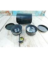 VTG Set Yashica Yashikor AUX Wide Angle And Telephoto 1:4 Lens With Case - $34.64