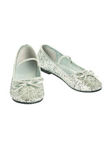 Rubie's Girl's Costume Ballet Shoes, Silver, 11/12 - $47.72