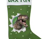 Dinosaur Christmas Stocking - Personalized and Hand Made T-Rex Christmas Stockin