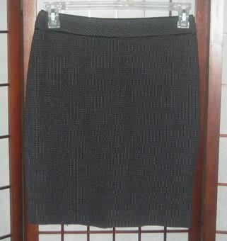 Ann Taylor wool blend tweed skirt charcoal gray sz 6 Petite 6P Ann Taylor