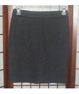 Ann Taylor wool blend tweed skirt charcoal gray sz 6 Petite 6P - $3.00