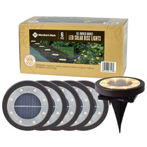 6-Piece LED Solar Disc Lights for Ground Stake & Wall Mount - Bronze - $49.49