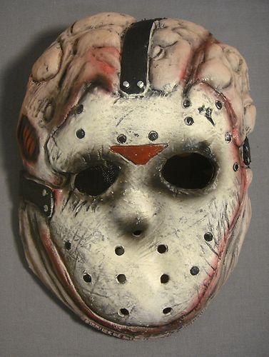 FRIDAY THE 13TH JASON VOORHEES TOXIC WASTE THEME HALLOWEEN LATEX KID MASK NEW