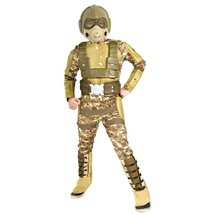 Future Warfare Deluxe Desert Warrior Child Size Medium Size 12 14 Ages 5 7 - $19.18