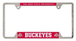 Ohio State Buckeyes Heavy Duty Chrome Metal License Plate Frame - $13.95
