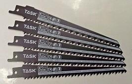 """Task Tools T22180 6"""" x 6 TPI High Carbon Steel Recip Saw Blade 5pcs Swiss - $3.96"""