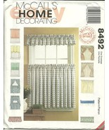 McCall's Sewing Pattern 8492 Curtains Drapes Blinds Honme Decor  - $6.98