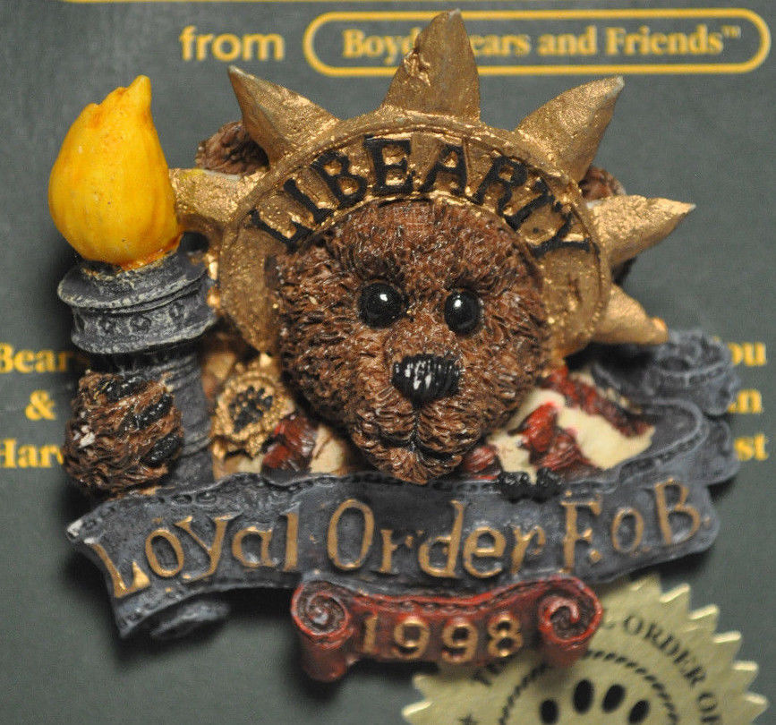 Boyds Bears & Friends: BEARWEAR - Ms Liberty - 01998-11, Brooch Pin image 2