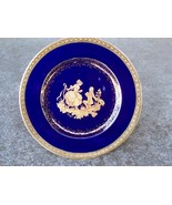 Limoges Castle France Plate Gold Gilding /w Couple - $24.99