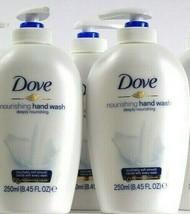 3 Bottles Dove 8.45 Oz Deeply Nourishing 1/4 Moisturizing Cream Hand Wash - $21.99