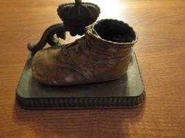 Vintage Bronze Baby Shoe -  One Book End By Alice Ames Boston, Mass. - $17.37