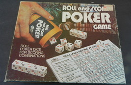 Roll and Score Poker Game 1977 E S Lowe-Complete - $12.00