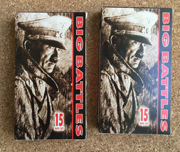 2 THE BIG BATTLES World War II WWII VHS Tapes • Vol 1 and Vol 2 • VCI Ho... - $11.83