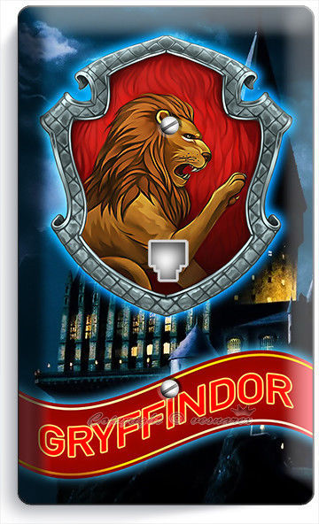 HARRY POTTER GRYFFINDOR GREST HOGWARTS PHONE TELEPHONE CASTLE WALL PLATE COVERS
