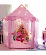 NEW Princess Castle House Lit Lighted Indoor Outdoor Kids Play Tent Girl... - $64.99