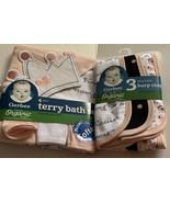 Gerber Baby Girl 4-Piece Organic Cotton Pink  Terry Bath Set & 3 Burp Cl... - $19.39