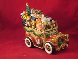 Fitz and Floyd Santa Wagon Music Box - $30.00