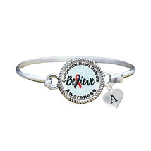 Custom Congenital Heart Defects Awareness Believe Silver Bracelet Jewelry - $13.80+