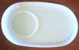 Vintage White Milk Glass  large Sandwich Plate Heat Proof Dish USA 9 3/4... - $16.83