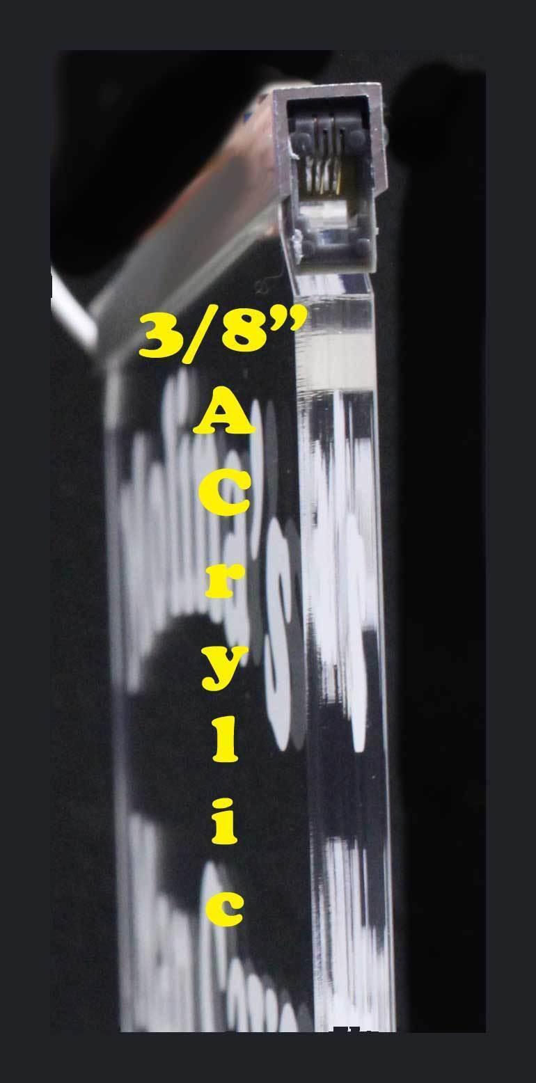 "Custom LED Sign, LED Acrylic 23.25"" x 14"", Design your own sign image 3"