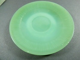 Oven Ware Fire King Jadeite Jane Ray saucer green ribbed dinnerware mark... - $29.70