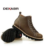 BDF New Fashion Men Shoes Waterproof Comfortable Genuine Leather Ankle B... - $65.78