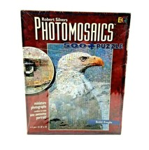 PHOTOMOSAICS Bald Eagle Puzzle 500 Pieces Robert Silvers Buffalo Games NEW - $16.78