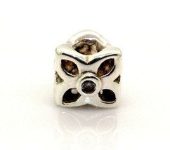 Authentic PANDORA Sterling Silver FLOWER Charm Bead 790260CZ  #20146B - $20.78