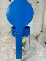 Gemco Pitcher Blue Flip Top Clear Glass Vintage Small USA w/ Original Label New image 6