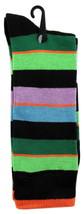Goldstar Mens Striped Socks Casual Fun Color Combo 3 Cotton Blend Crew Sock - $12.95